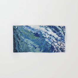 Deep Blue Ocean Wake Hand & Bath Towel