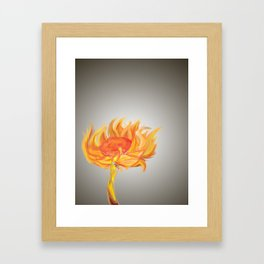 Flame Flower Framed Art Print