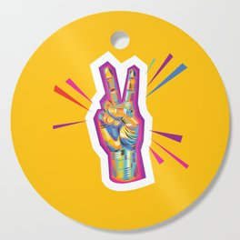 Peace as a Light of Hope Cutting Board