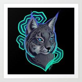 Luminous Lynx Art Print