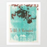 to kill a mockingbird Art Prints featuring To Kill A Mockingbird by Adriana Vawdrey
