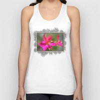 grafitti Tank Tops featuring Zonal Stellar Geranium named Grafitti Violet by JMcCombie