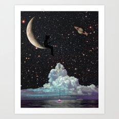 Late Night Fishing Art Print