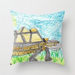 AldabraTortoise Throw Pillow