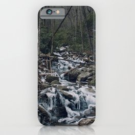 Frozen Stream From Mountain High iPhone Case