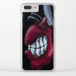 Red And Angry Clear iPhone Case