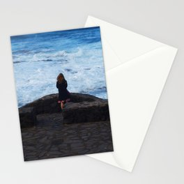 Ocean lover, meditation in front of the sea Stationery Cards