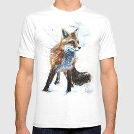 Fox watercolor T-shirt