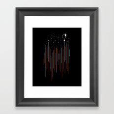 Through The Cosmic Rays Framed Art Print