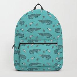 Crocodile Crane Pattern Backpack