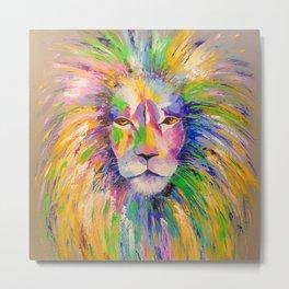 Colorful lion Metal Print