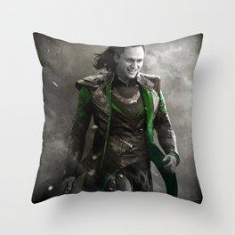 Sinister Smirk Throw Pillow