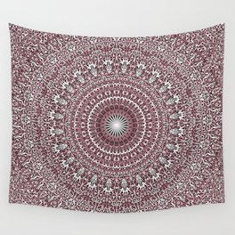 Light Pink Floral Mandala Wall Tapestry