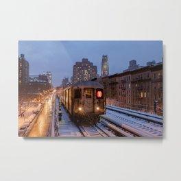 MTA NYC Subway - 125 Street Viaduct (Manhattan) Metal Print