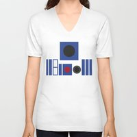 r2d2 V-neck T-shirts featuring R2D2 by VineDesign