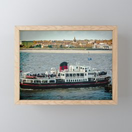 FERRY CROSSING THE RIVER MERSEY, LIVERPOOL Framed Mini Art Print