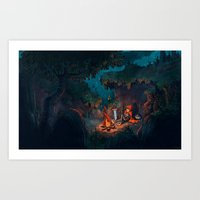 The Weary Traveller Rests Art Print