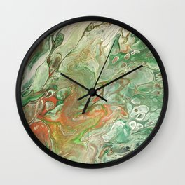 Copper on Green Wall Clock