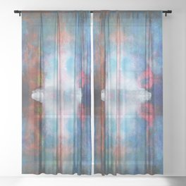 The white light | Abstract painting Sheer Curtain