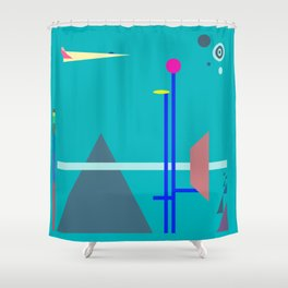 Two Sequences, Pyramid, Tower and Target Shower Curtain