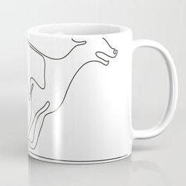 Greyhound Racing Continuous Line Coffee Mug