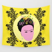 frida Wall Tapestries featuring Frida by Emmanuelle Ly