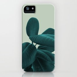 Ficus Elastica #8 #GreenLily #decor #art #society6 iPhone Case