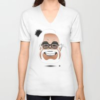 hayao miyazaki V-neck T-shirts featuring Dōmo Arigatō Hayao Miyazaki (Color version) by Arian Noveir
