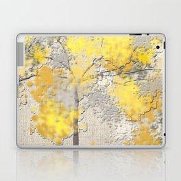 Abstract Yellow and Gray Trees Laptop & iPad Skin