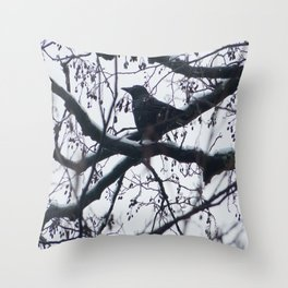 Creature of snow Throw Pillow