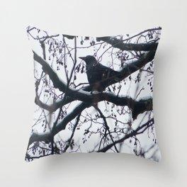 Creature of snow Throw Pillow
