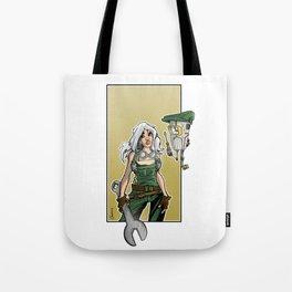 mecha girl Tote Bag