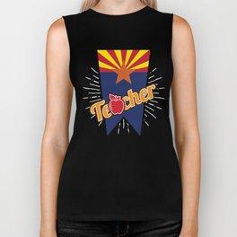 Arizona Teacher Gift -AZ Teaching Home State Pride Biker Tank