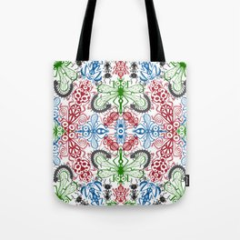 Funny bugs going for a beautiful choreography pattern design Tote Bag