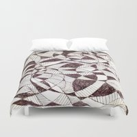 fibonacci Duvet Covers featuring Life is Circular  by PlanetLOUDville