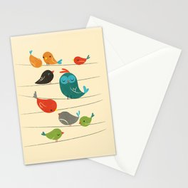 Colorful Birds Stationery Cards