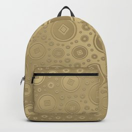 Lucky Chinese coins pattern pastel gold Backpack