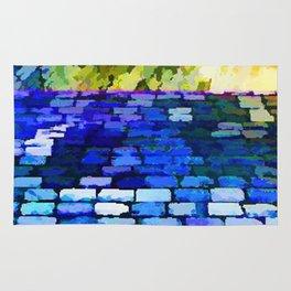 CobbleStone in Blue Oil Rug