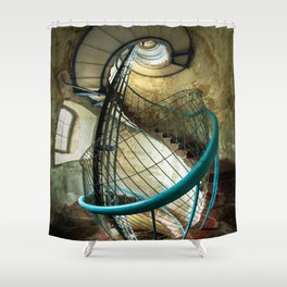 Inside the old lighthouse Shower Curtain