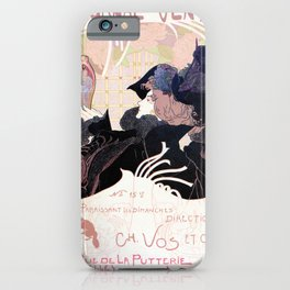 1899 Art nouveau auction journal ad iPhone Case