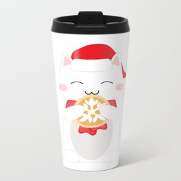 Happy Cat Metal Travel Mug