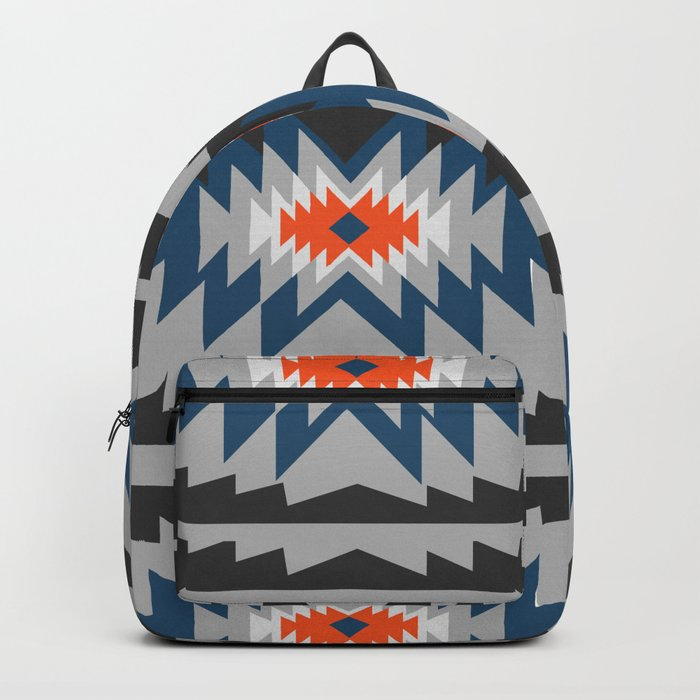Wintry ethnic pattern Backpack