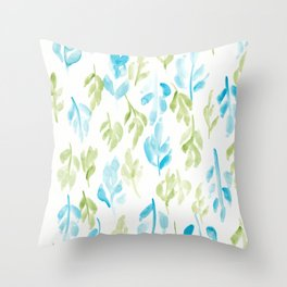180726 Abstract Leaves Botanical 28 |Botanical Illustrations Throw Pillow