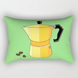 Yellow Rainbow Espresso Rectangular Pillow