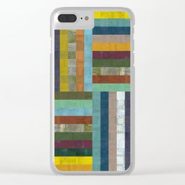 Wooden Abstract V Clear iPhone Case