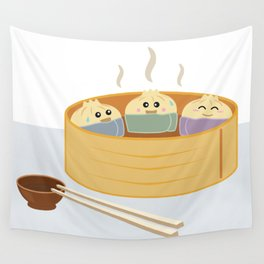 Dim Sum in a Sauna Wall Tapestry
