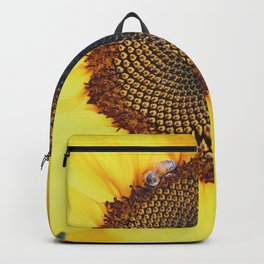 Macro Sunflower & Bee Backpack