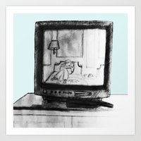 friends tv Art Prints featuring Television by Brontosaurus