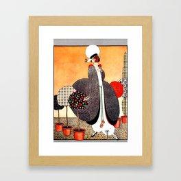 "Art Deco Design ""Fabric Orchard"" Framed Art Print"