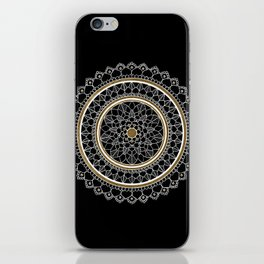 Black and Gold Mandala iPhone Skin